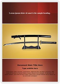 Japanese Samurai Sword Editable Word Template