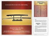 Japanese Samurai Sword Template