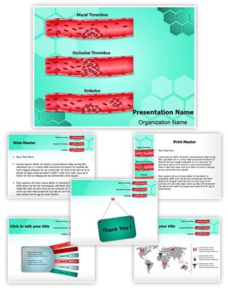 Thrombosis Types Editable PowerPoint Template