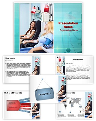 Donate Blood Transfusion Editable PowerPoint Template
