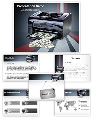 Printer Printing Forgery Editable PowerPoint Template