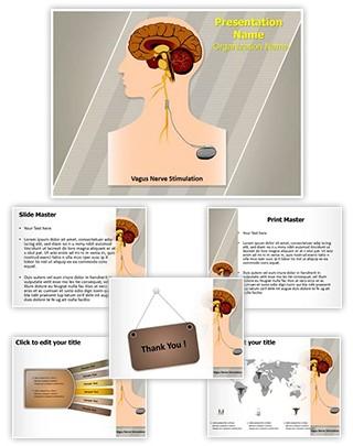 Vagus Nerve Stimulation Editable PowerPoint Template