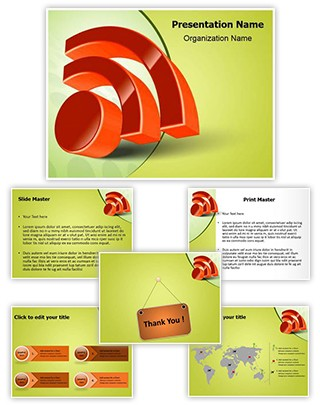 RSS Icon Editable PowerPoint Template