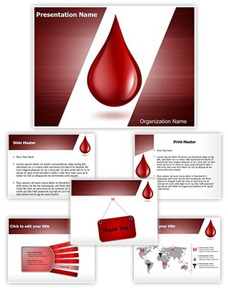 Blood Drop Editable PowerPoint Template