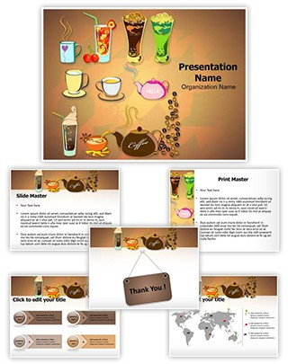 Starbucks Menu Editable PowerPoint Template