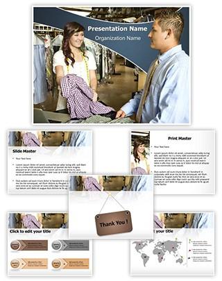 Textile Clothing Woman Entrepreneur Editable PowerPoint Template