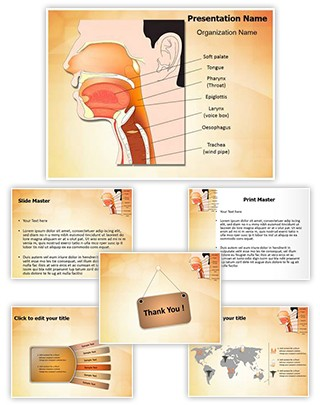 Nose mouth and throat Editable PowerPoint Template
