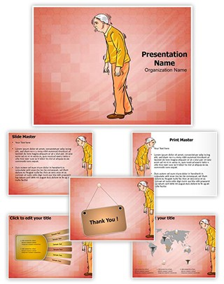 Old Age Parkinson Disease Editable PowerPoint Template