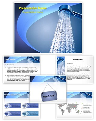 Spa Bathroom Shower Editable PowerPoint Template