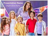 Children Preschool Teacher Editable PowerPoint Template