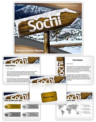 Sochi Russia Editable PowerPoint Template