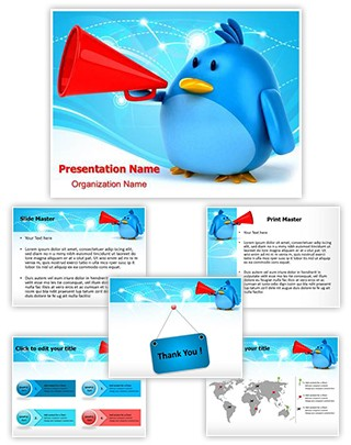 Tweet Editable PowerPoint Template