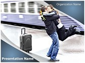 Train Station Romantic Farewell Editable PowerPoint Template