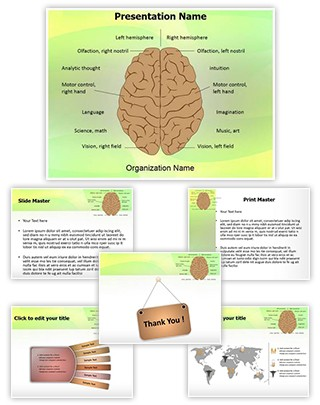 System Nervous Lateralization Editable PowerPoint Template