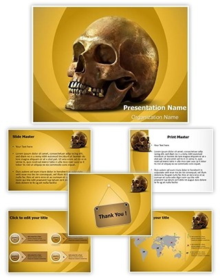 Anatomy Human Skull Editable PowerPoint Template