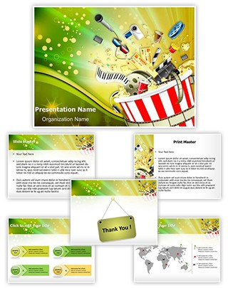 Entertainment Editable PowerPoint Template