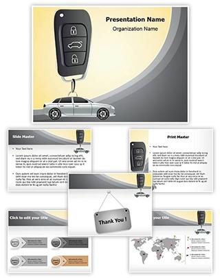 Center Lock Car Security Editable PowerPoint Template