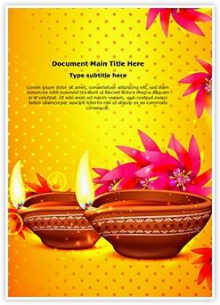 Diwali Festival Editable Word Template