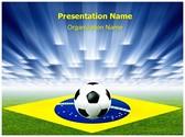Brazil Football Soccer Editable PowerPoint Template