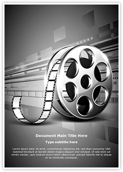 Film Reel Editable Word Template