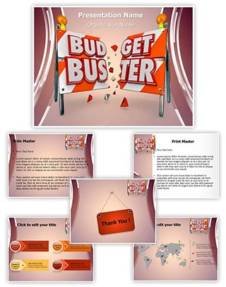 Financial Budget Buster Editable PowerPoint Template