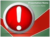 Error Message Exclamation Mark Editable PowerPoint Template