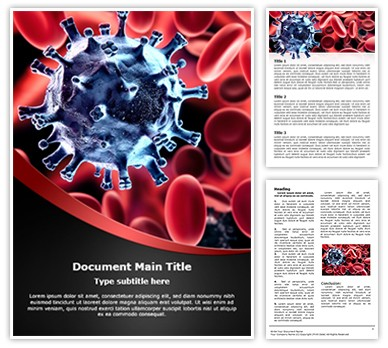Virus in Blood Word Template