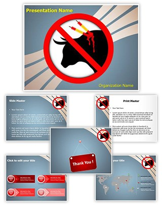 Animal Abuse Editable PowerPoint Template