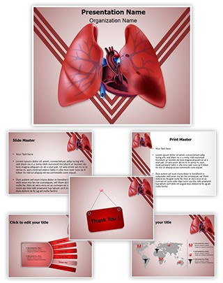Circulatory Pulmonary Embolism Editable PowerPoint Template