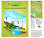 Atmosphere Pollution Acid Rain Template