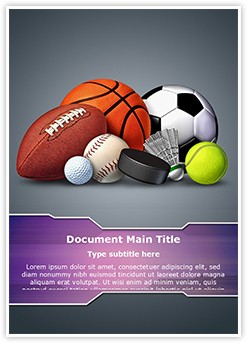 Sports Ball Editable Word Template