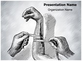 Nursing Arm Bandage PowerPoint Templates