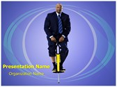 Businessman Pogo Stick Template
