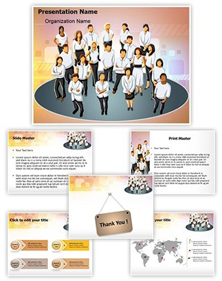 Corporate Business Group Editable PowerPoint Template