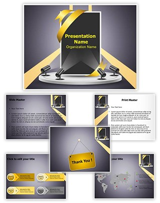 Corporate Presentation Product Promotion Editable PowerPoint Template