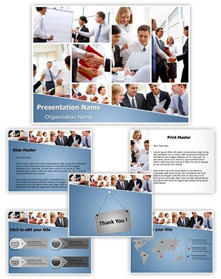 Businesspeople Teamwork Editable PowerPoint Template
