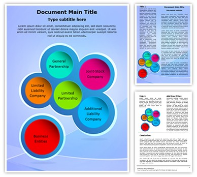 Business Entities Editable Word Document Template