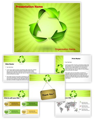 Green Recycle Concept Editable PowerPoint Template