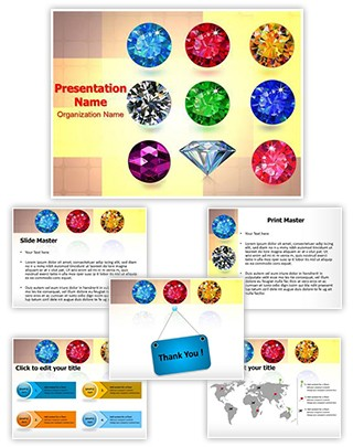 Jewelry Gemstone Editable PowerPoint Template