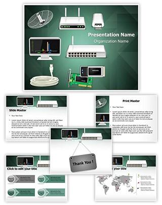 Network Hardware Editable PowerPoint Template