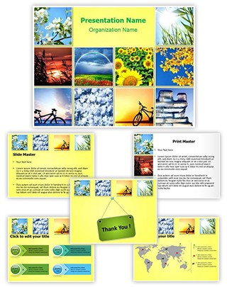 Four Seasons Editable PowerPoint Template