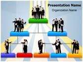 Organisation Hierarchy Powerpoint Template