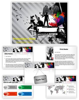 Urban Lifestyle Editable PowerPoint Template