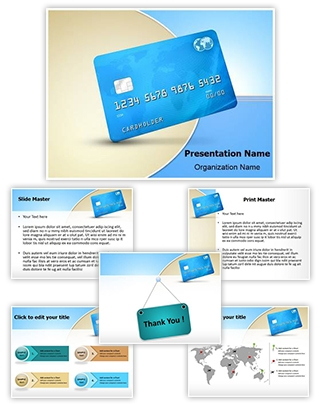 Credit Debit Card Editable PowerPoint Template