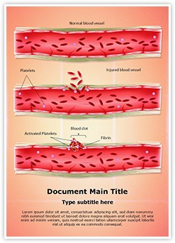 Blood Clotting Process Editable Word Template