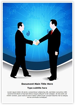 Business Deal Handshake Editable Word Template