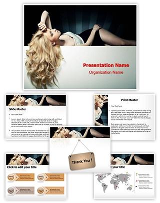 Hairstyle Hair Salon Editable PowerPoint Template