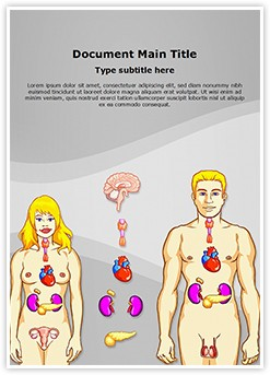Human Endocrine System Editable Word Template