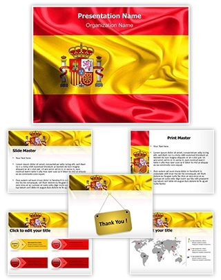 National Flag Spain Editable PowerPoint Template