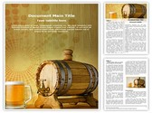 Beer and barrel Template